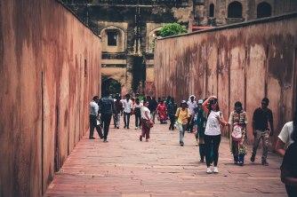 Agra Fort e os turistas