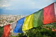 Banndeiras de oração em Kathmandu