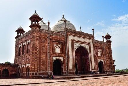 Taj Mahal Mesquita Esquerda